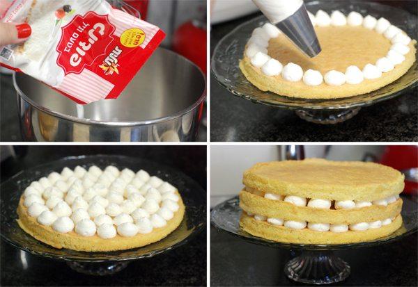 עוגת דובוש שלבים