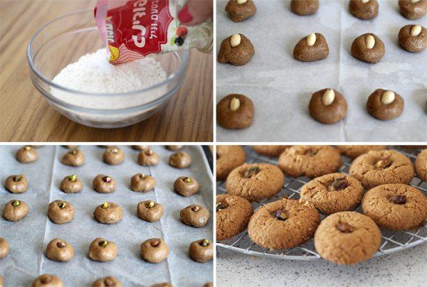 עוגיות טחינה שלבים
